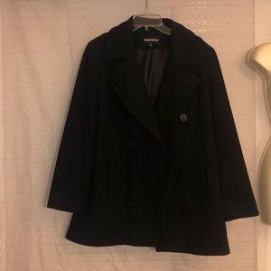 Women's Black DonnyBrook Pea Coat size 12